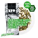 Farfalle mit Gorgonzola-Spinat-Soße