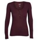 Base Rib Henley 165 Women