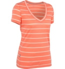 Tech Short Sleeve V Stripe Women