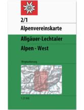 AV-Karte 2/1 - Allgäuer-Lechtaler Alpen West