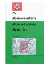 AV-Karte 2/2 - Allgäuer-Lechtaler Alpen Ost