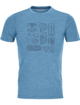120 Merino Cool Tech Puzzle T-Shirt Men