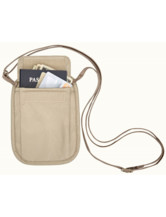 RFID Blocker Neck Wallet - tan