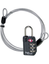 3-Dial TSA Lock and Cable - graphite