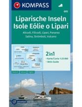 Wanderkarte Liparische Inseln