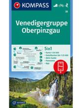 Wanderkarte Venedigergruppe, Oberpinzgau
