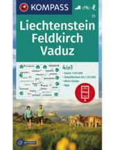 Wanderkarte Liechstenstein, Feldkirch, Vaduz