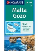 Wanderkarte Malta, Gozo