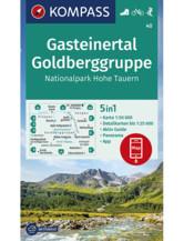 Wanderkarte Gasteinertal, Goldberggruppe, NP Hohe Tauern