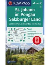 Wanderkarte St. Johann im Pongau, Salzburger Land