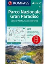 Wanderkarte Gran Paradiso, Aostatal
