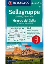 Wanderkarte Sellagruppe