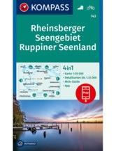 Wanderkarte Rheinsberger Seengebiet, Ruppiner Seenland