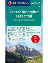 Wanderkarte Lienzer Dolomiten, Lesachtal, Karnischer Höhenweg