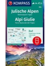 Wanderkarte Julische Alpen, Nationalpark Triglav