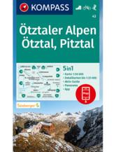 Wanderkarte Ötztaler Alpen, Ötztal, Pitztal