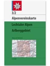 AV-Karte 3/2 - Lechtaler Alpen, Arlberggebiet