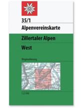 AV-Karte 35/1 - Zillertaler Alpen West