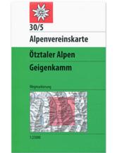 AV-Karte 30/5 - Ötztaler Alpen, Geigenkamm