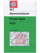 AV-Karte 30/1 - Ötztaler Alpen, Gurgl