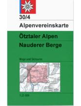 AV-Karte 30/4 - Ötztaler Alpen, Nauderer Berge