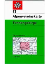 AV-Karte 13 - Tennengebirge