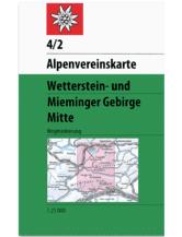 AV-Karte 04/2 - Wetterstein-Mieminger Gebirge, Mitte