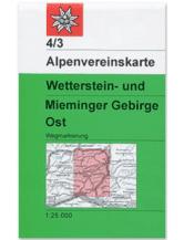 AV-Karte 04/3 - Wetterstein-Mieminger Gebirge, Ost