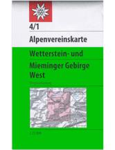 AV-Karte 04/1 - Wetterstein-Mieminger Gebirge, West