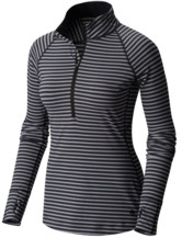 Butterlicious Stripe LS Half-Zip Women