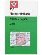 AV-Karte 35/2 - Zillertaler Alpen Mitte