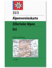AV-Karte 35/3 - Zillertaler Alpen Ost W/S