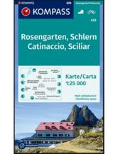 Wanderkarte Rosengarten, Schlern, Catinaccio, Sciliar