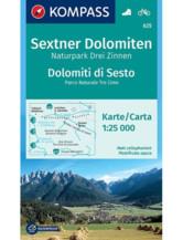 Wanderkarte Sextner Dolomiten, Drei Zinnen