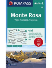 Wanderkarte 88 Monte Rosa