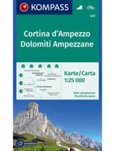 Wanderkarte Cortina d'Ampezzo