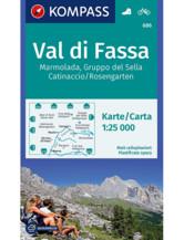 Wanderkarte Val di Fassa, Marmolada