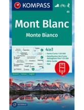 Wanderkarte Mont Blanc