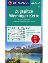 Wanderkarte Zugspitze, Mieminger Kette