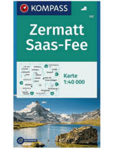 Wanderkarte Zermatt, Saas-Fee