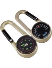 Karabiner Kompass mit Thermometer