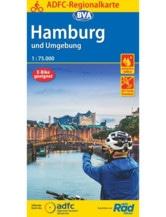 Hamburg und Umgebung Fahrradkarte, Auflage 2020
