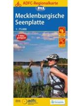 Mecklenburgische Seenplatte Fahrradkarte , Auflage 2020