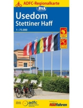 Usedom / Stettiner Haff Fahrradkarte