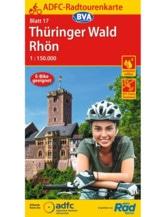Thüringer Wald / Rhön Fahrradkarte, Auflage 2020