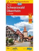 Schwarzwald / Oberrhein Fahrradkarte