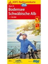ADFC Fahrradkarte Bodensee / Schwäbische Alb