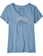Raindrop Peak Organic V-Neck T-Shirt Women