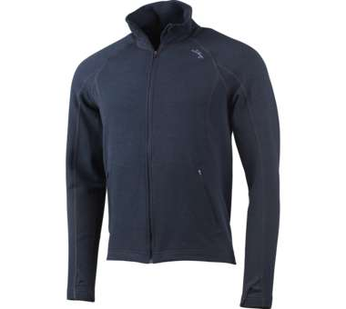 Merino Full Zip Jacket deep blue | S