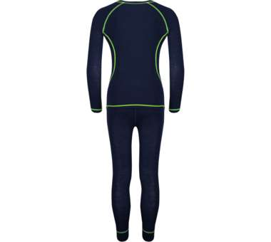 Kids Merino Baselayer Set navy/viper green | 152